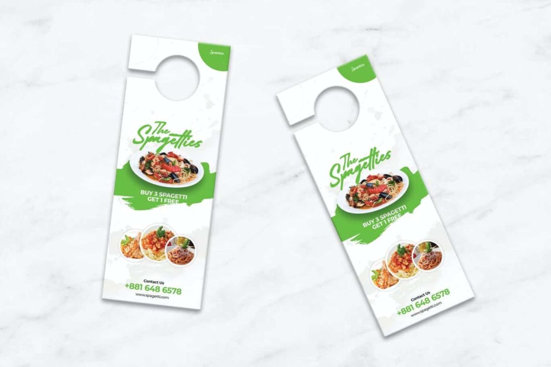 For Sale Full Color Door Hangers - Restaurant Promo