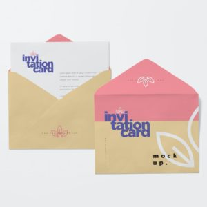 Sample Invitation Cards and Envelopes