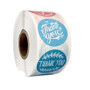 Roll of Thank You labels