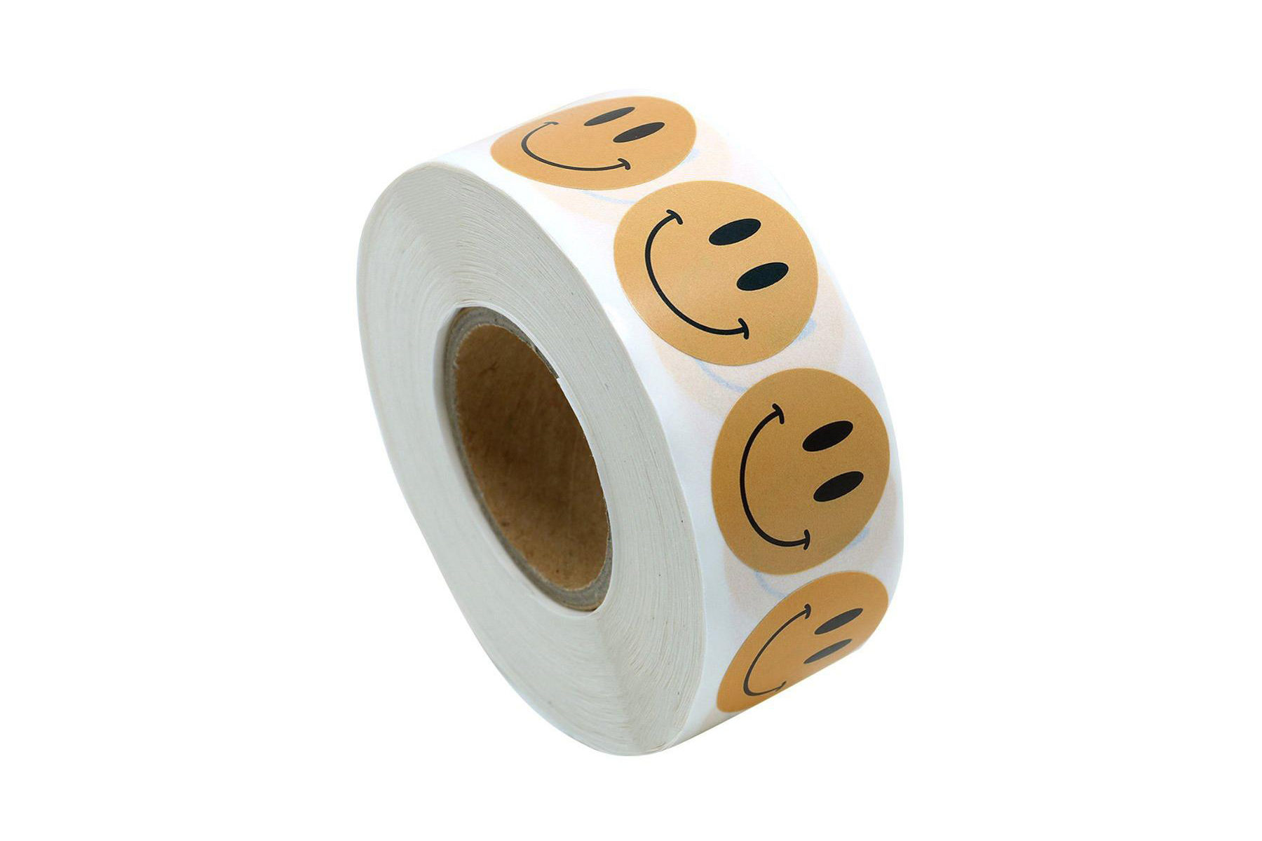Roll of Smiley Sticker Lablels