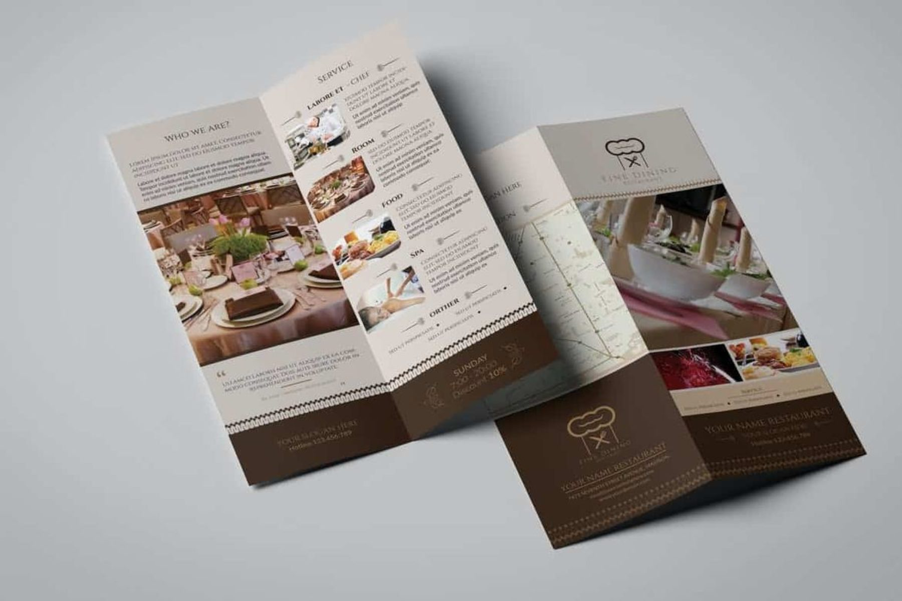 Take out restaurant menu - back and front