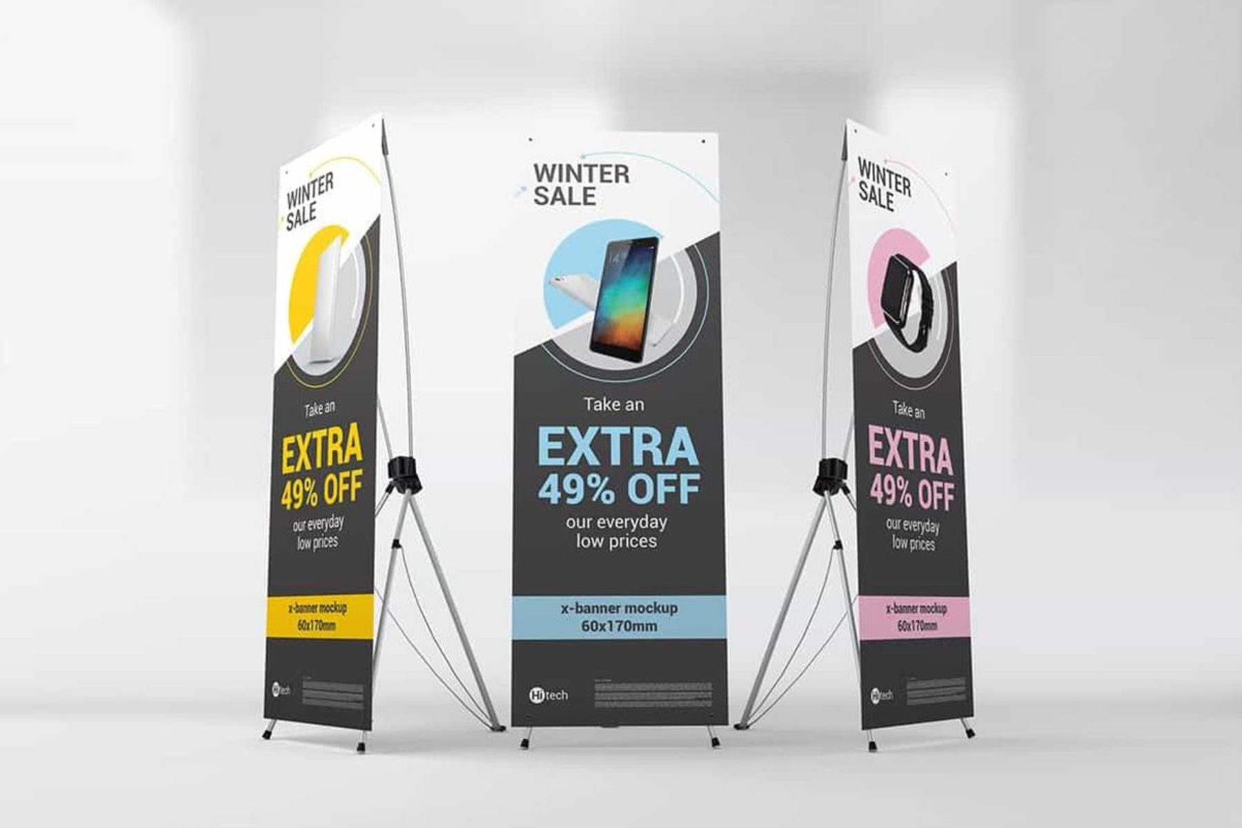 Full Color Custom Advertising X-Stand Banners